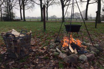 Kampvuur met Dutch Oven