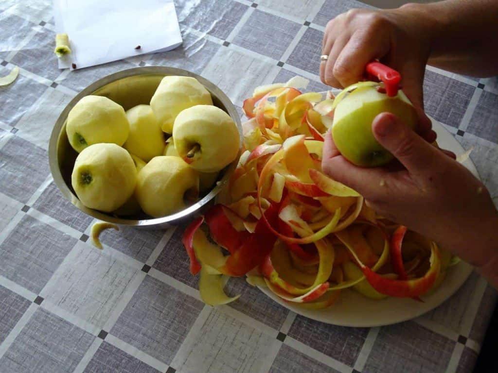 Appels schillen